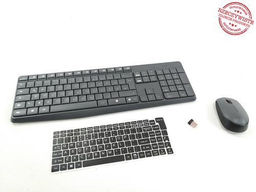 Klawiatura i mysz bezprzewodowa LOGITECH MK235 QWERTZ