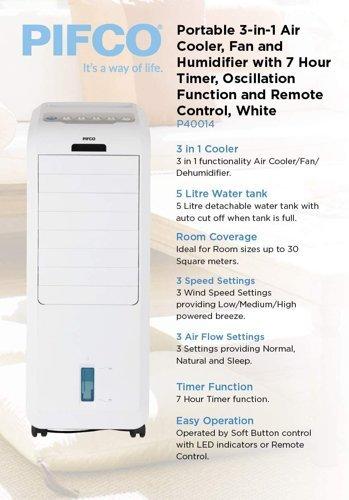 Wentylator/chłodnica/ nawilżacz powietrza PIFCO P40014